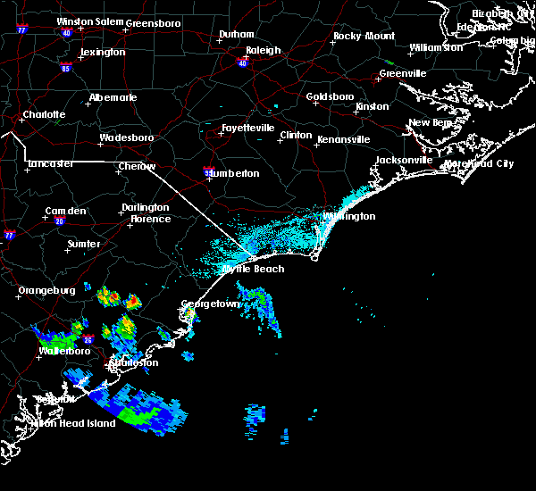 Radar Image for Severe Thunderstorms near Pawleys Island, SC at 7/9/2016 6:29 PM EDT