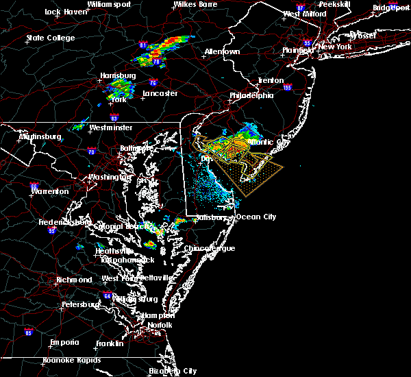 Radar Image for Severe Thunderstorms near Sea Isle City, NJ at 7/9/2016 7:10 PM EDT