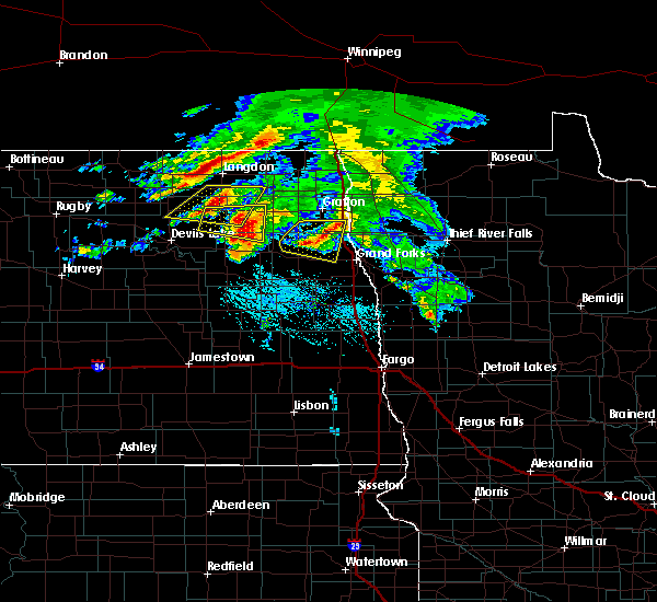 Radar Image for Severe Thunderstorms near Grand Forks AFB, ND at 7/9/2016 6:44 PM CDT