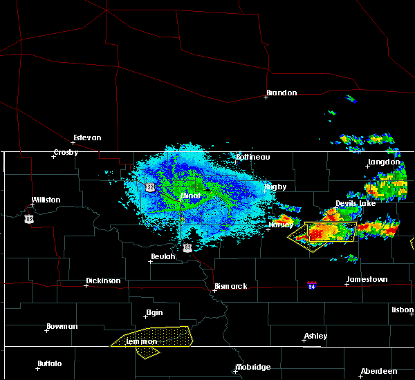 Radar Image for Severe Thunderstorms near Cathay, ND at 7/9/2016 8:20 PM CDT
