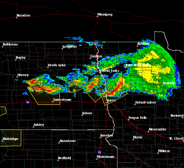 Radar Image for Severe Thunderstorms near Glyndon, MN at 7/9/2016 10:05 PM CDT