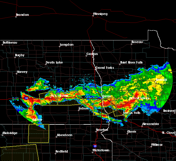 Radar Image for Severe Thunderstorms near Perham, MN at 7/9/2016 11:30 PM CDT