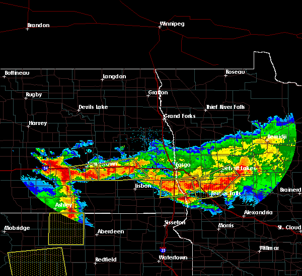 Radar Image for Severe Thunderstorms near Kent, MN at 7/9/2016 11:44 PM CDT