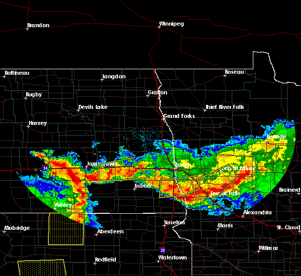 Radar Image for Severe Thunderstorms near Perham, MN at 7/9/2016 11:59 PM CDT