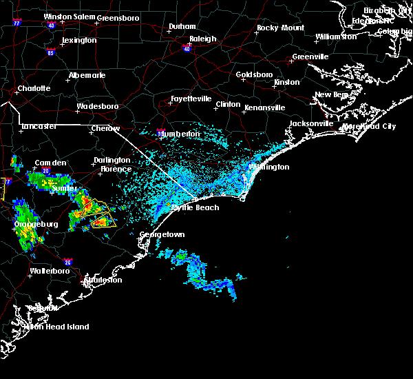 Radar Image for Severe Thunderstorms near Lane, SC at 7/10/2016 4:42 PM EDT