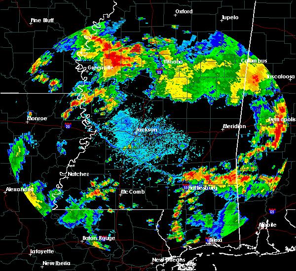Radar Image for Severe Thunderstorms near Ellisville, MS at 7/10/2016 4:21 PM CDT