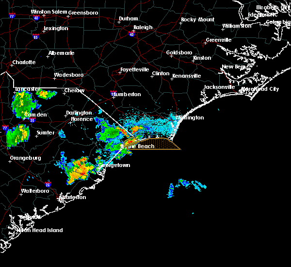 Radar Image for Severe Thunderstorms near Myrtle Beach, SC at 7/10/2016 7:24 PM EDT