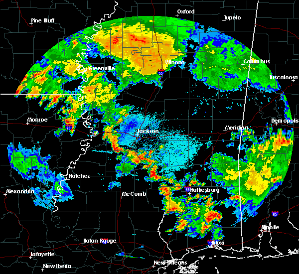 Radar Image for Severe Thunderstorms near Raymond, MS at 7/10/2016 6:35 PM CDT