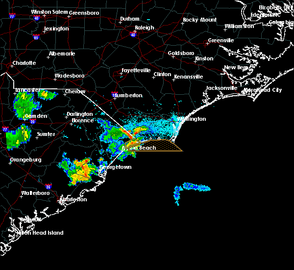 Radar Image for Severe Thunderstorms near North Myrtle Beach, SC at 7/10/2016 7:35 PM EDT