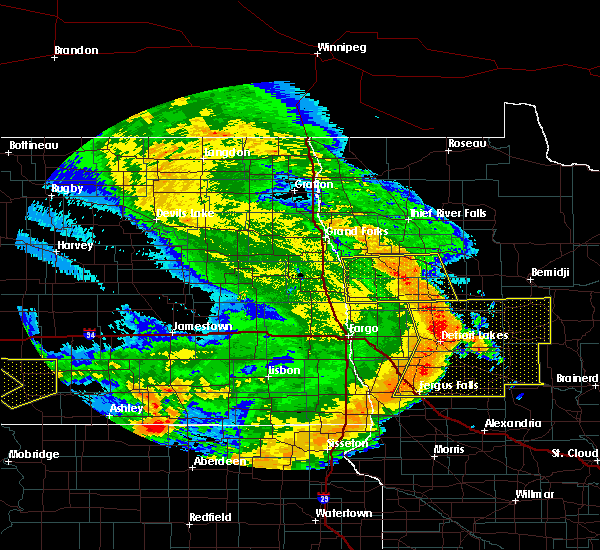 Radar Image for Severe Thunderstorms near Wilton, MN at 7/11/2016 2:04 AM CDT