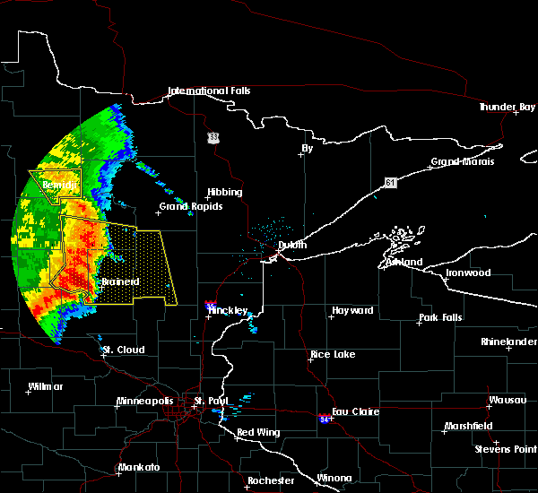 Radar Image for Severe Thunderstorms near Bemidji, MN at 7/11/2016 3:35 AM CDT