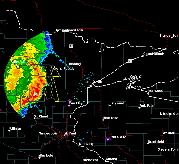 Radar Image for Severe Thunderstorms near Pequot Lakes, MN at 7/11/2016 3:56 AM CDT