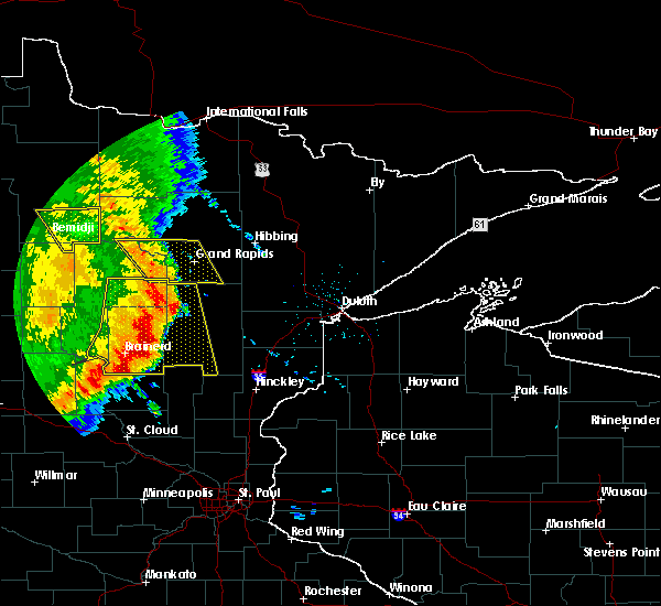 Radar Image for Severe Thunderstorms near Bemidji, MN at 7/11/2016 3:59 AM CDT
