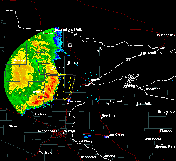 Radar Image for Severe Thunderstorms near Lastrup, MN at 7/11/2016 4:27 AM CDT