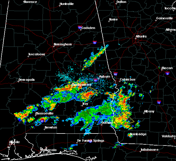 Radar Image for Severe Thunderstorms near Tallassee, AL at 7/11/2016 2:25 PM CDT