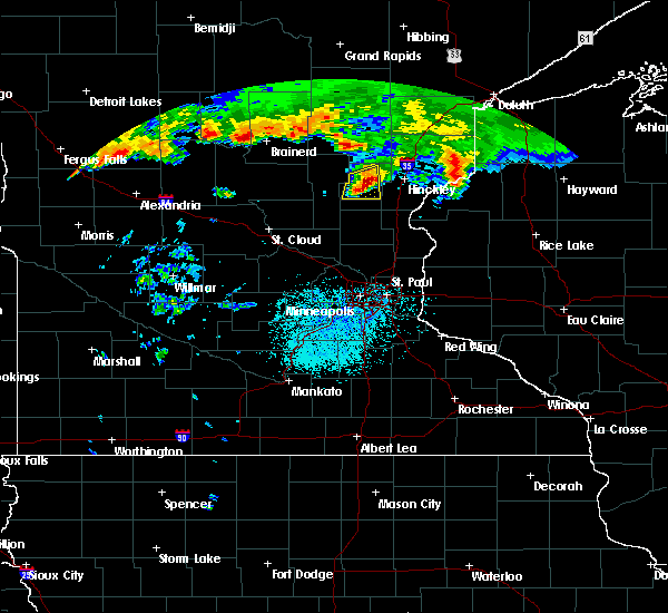 Radar Image for Severe Thunderstorms near Ogilvie, MN at 7/11/2016 2:25 PM CDT