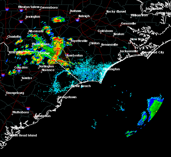 Radar Image for Severe Thunderstorms near Pembroke, NC at 7/11/2016 3:25 PM EDT