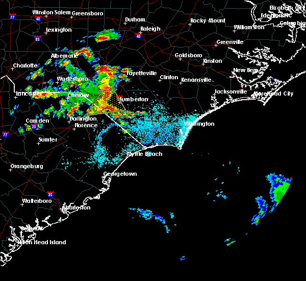 Radar Image for Severe Thunderstorms near Pembroke, NC at 7/11/2016 3:34 PM EDT