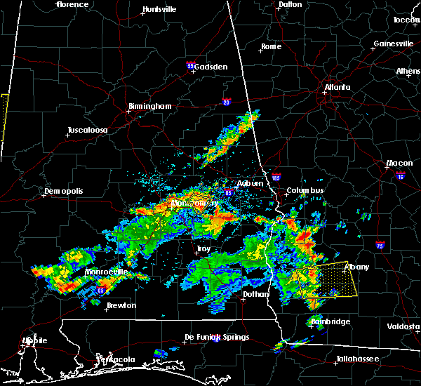 Radar Image for Severe Thunderstorms near Tallassee, AL at 7/11/2016 2:43 PM CDT