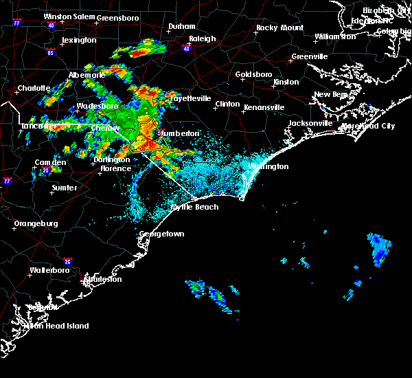 Radar Image for Severe Thunderstorms near Pembroke, NC at 7/11/2016 3:46 PM EDT