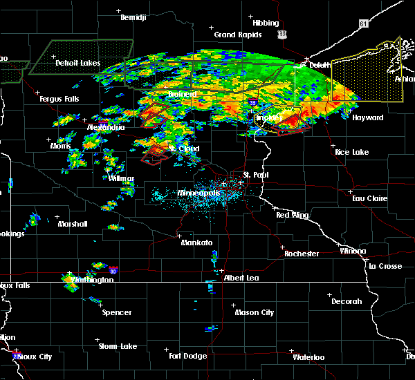 Radar Image for Severe Thunderstorms near Elmdale, MN at 7/11/2016 6:17 PM CDT