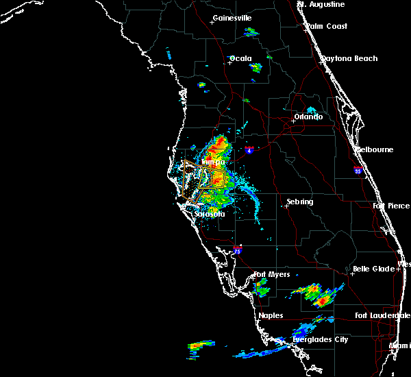 Radar Image for Severe Thunderstorms near Fish Hawk, FL at 7/11/2016 7:49 PM EDT