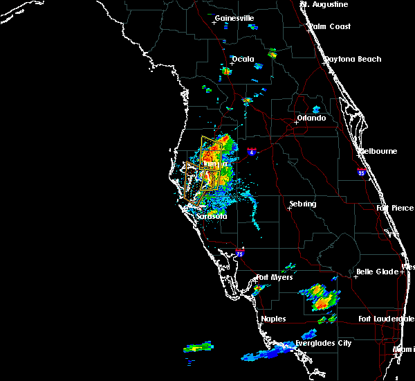 Radar Image for Severe Thunderstorms near Tampa, FL at 7/11/2016 8:09 PM EDT