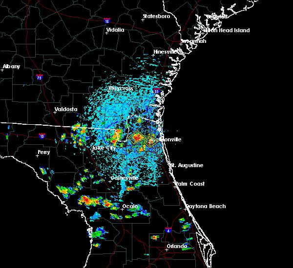 Radar Image for Severe Thunderstorms near Jacksonville, FL at 7/12/2016 3:14 PM EDT