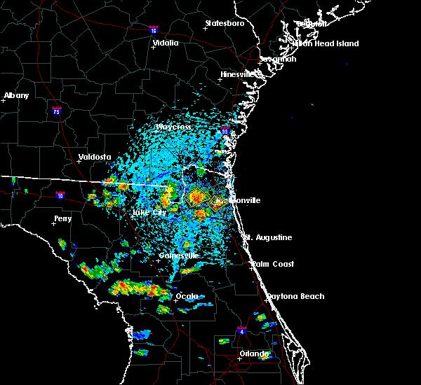 Radar Image for Severe Thunderstorms near Jacksonville, FL at 7/12/2016 3:25 PM EDT