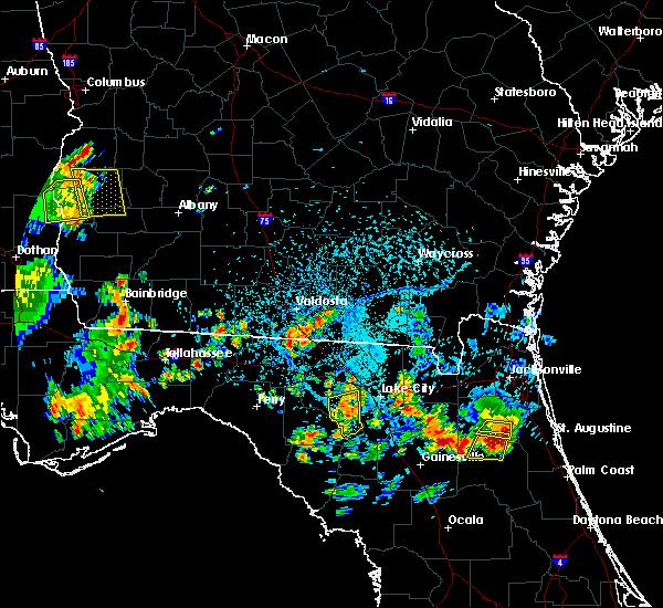 Radar Image for Severe Thunderstorms near Branford, FL at 7/12/2016 5:12 PM EDT