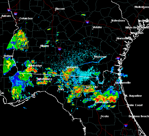 Radar Image for Severe Thunderstorms near Lake City, FL at 7/12/2016 5:33 PM EDT