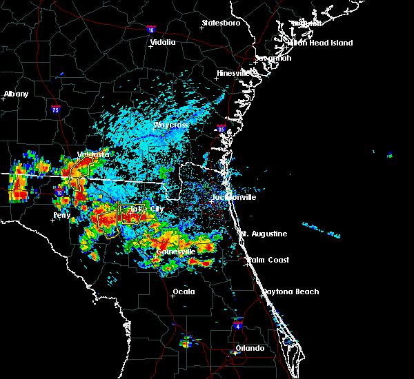 Radar Image for Severe Thunderstorms near Palatka, FL at 7/12/2016 5:46 PM EDT