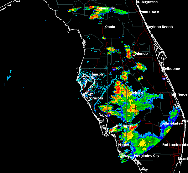 Radar Image for Severe Thunderstorms near Alturas, FL at 7/12/2016 6:34 PM EDT