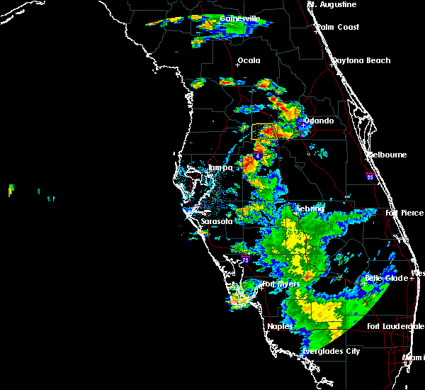 Radar Image for Severe Thunderstorms near Four Corners, FL at 7/12/2016 7:40 PM EDT