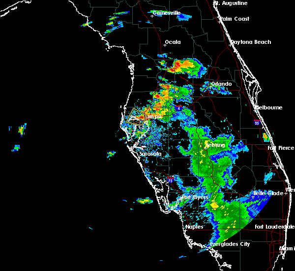 Radar Image for Severe Thunderstorms near Clearwater, FL at 7/12/2016 8:47 PM EDT