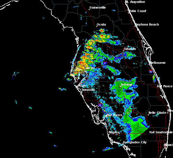 Radar Image for Severe Thunderstorms near Clearwater, FL at 7/12/2016 9:14 PM EDT