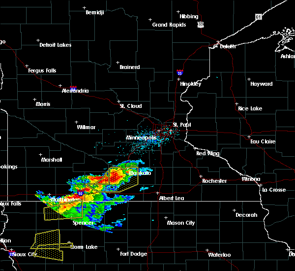 Radar Image for Severe Thunderstorms near Good Thunder, MN at 7/13/2016 8:51 AM CDT