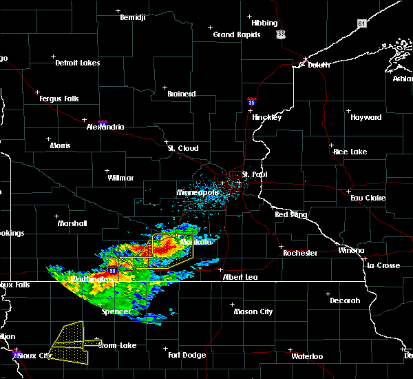 Radar Image for Severe Thunderstorms near Good Thunder, MN at 7/13/2016 8:55 AM CDT