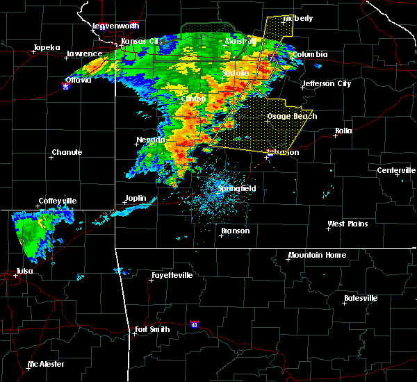 Radar Image for Severe Thunderstorms near Olean, MO at 7/13/2016 1:21 PM CDT