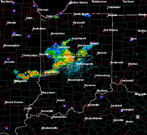 Radar Image for Severe Thunderstorms near Frankton, IN at 7/13/2016 4:36 PM EDT