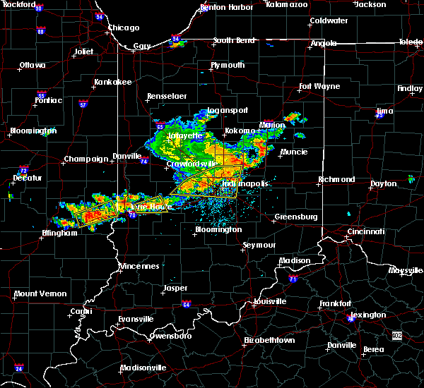Radar Image for Severe Thunderstorms near Whitestown, IN at 7/13/2016 5:06 PM EDT