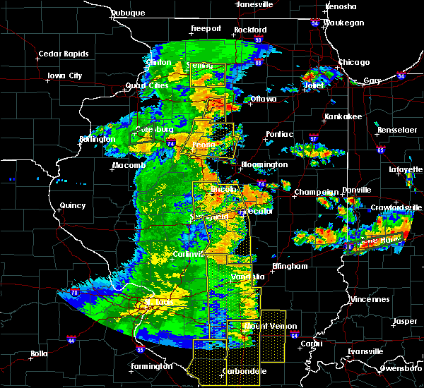 Radar Image for Severe Thunderstorms near Salem, IL at 7/13/2016 5:01 PM CDT