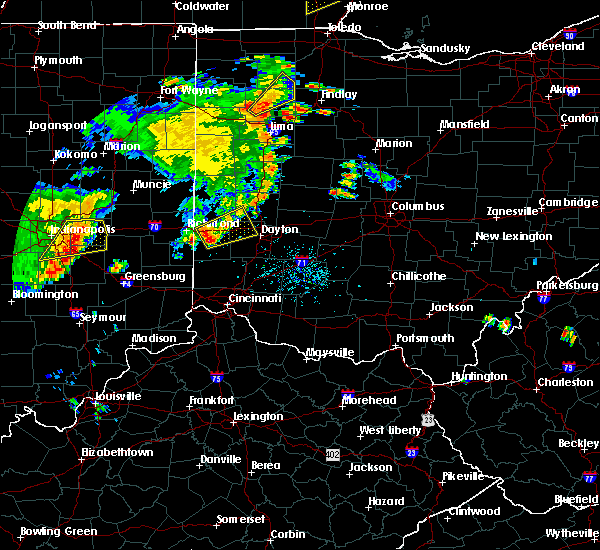 Radar Image for Severe Thunderstorms near New Lebanon, OH at 7/13/2016 7:22 PM EDT