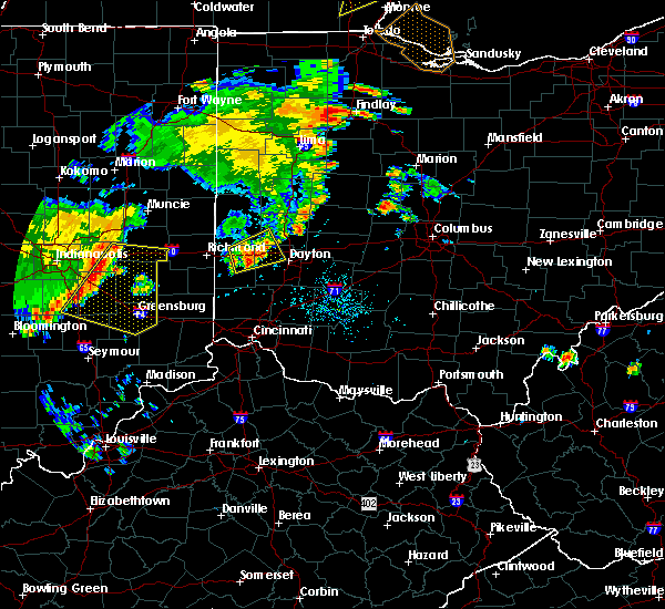Radar Image for Severe Thunderstorms near New Lebanon, OH at 7/13/2016 7:34 PM EDT