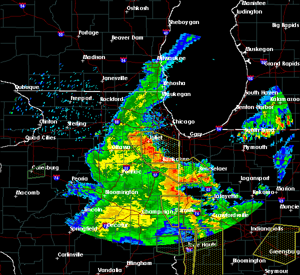 Radar Image for Severe Thunderstorms near Otterbein, IN at 7/13/2016 7:45 PM EDT