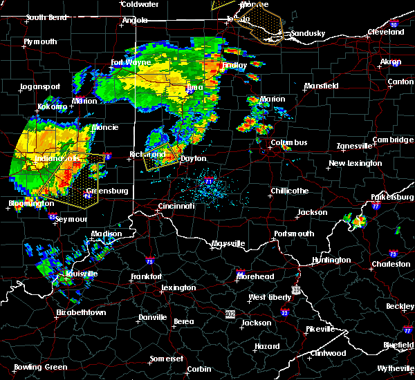 Radar Image for Severe Thunderstorms near New Lebanon, OH at 7/13/2016 7:45 PM EDT