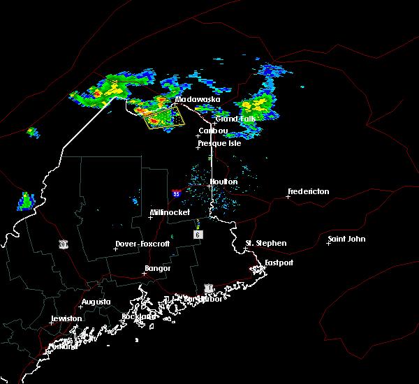 Radar Image for Severe Thunderstorms near Eagle Lake, ME at 7/13/2016 8:07 PM EDT