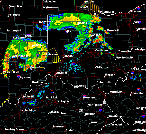 Radar Image for Severe Thunderstorms near Germantown, OH at 7/13/2016 8:29 PM EDT