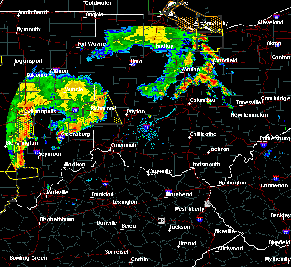 Radar Image for Severe Thunderstorms near Germantown, OH at 7/13/2016 8:45 PM EDT