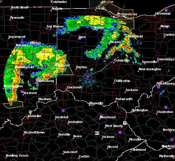 Radar Image for Severe Thunderstorms near West Alexandria, OH at 7/13/2016 8:52 PM EDT